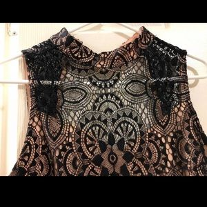Forever21 long, mock neck lace dress